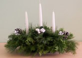 White Candlelight Centerpiece